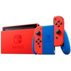 Console Portátil Switch 32 GB com Joy Con Nintendo Mario Red e Blue Edition