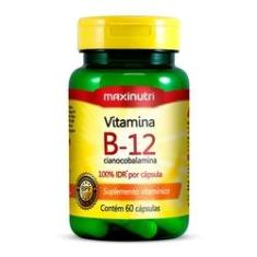 Vitamina B12 (cianocobalamina) - 60 Cápsulas - Maxinutri