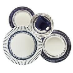 Aparelho de Jantar Redondo de Cerâmica 20 peças - Biona Colb Oxford Porcelanas