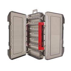 Caixa de armazenamento de iscas dupla face TOPmontain 12/14 células, caixa de armazenamento de subiscas de estrada, caixa de iscas de pesca visível, caixa de armazenamento para iscas de pesca com coluna de fixação de isca