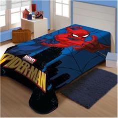Imagem de Cobertor Juvenil Raschel Plus Spider Cidade Jolitex Ref:K8.2056003 1,50 X 2,00