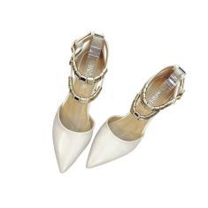 Imagem de Sapato de bico fino pu salto alto Calçados Capa calçados do salto com Praça Heel por Mulheres