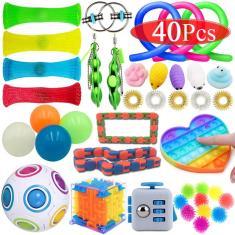 Imagem de 1/40Pcs Push Pop Bubble Pop It Fidget Anti-ansiedade Toys