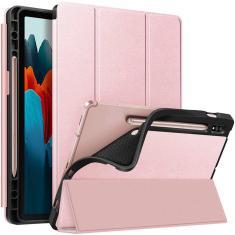Imagem de Fintie Slim Case para Samsung Galaxy Tab S7 11'' 2020 (Modelo SM-T870/T875/T878) com suporte de caneta S embutido, soft TPU Smart Stand Back Cover Auto Wake/Sleep Feature, Rose Gold