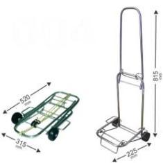 Imagem de Carrinho de Bagagens Capacidade até 50 kg dobravel Acompanha elastico 1,5m