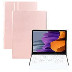 Imagem de ZOMUN Capa de teclado para Samsung Galaxy Tab S7 Plus 12,4 polegadas [SM-T970/SM-976B], teclado Bluetooth sem fio e capa fólio de couro sintético com suporte S-Pen