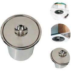 Imagem de Lixeira Pia Cozinha Embutir Granito Em Inox 3 Litros