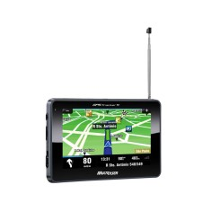 "GPS Automotivo Multilaser Tracker TV GP035 4,3 "" Câmera de Ré TV Digital"