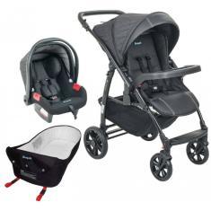 Carrinho de Bebê com Bebê Conforto Burigotto Primus K com Bebe Conforto e Ninho Pramette