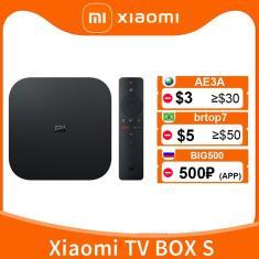 Imagem de Versão global xiaomi mi caixa de tv s 4k ultra hd android tv 9.0 hdr 2gb 8gb wifi google elenco
