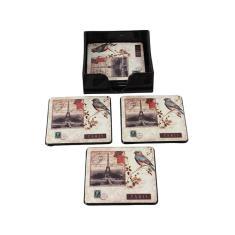 Imagem de Conjunto Com 6 Porta Copos Selo Paris Pássaro