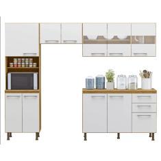 Imagem de Cozinha Compacta 3 Gavetas 10 Portas com virdro Lara Espresso Moveis