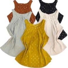 Imagem de Camisa Viscose Regata Feminina Blusa Roupas Femininas Camiseta P M G Fada Modas