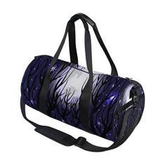 Imagem de Bolsa esportiva com estrelas galáxia, árvore estrelada, lua, viagem, academia, bolsa de ombro, bolsa de mão para homens, mulheres, crianças, meninos e meninas