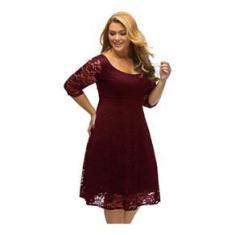 Imagem de Vestido Renda Moda Plus Size  Madrinha Festa   Batizado Casamento Noite