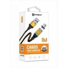 Cabo Magnético Imã USB Original Sumexr 1M 2.4A V8 Para Samsung J2 Pro, J5 Pro, J7 Pro