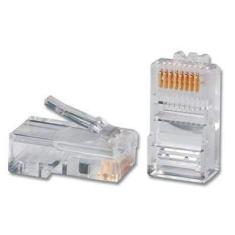 Imagem de Pacote Kit C/ 50 Conectores RJ45 Cat5e Transparente