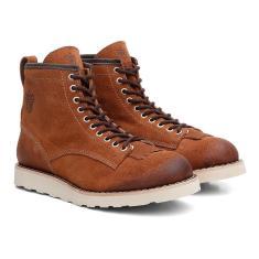 Imagem de Coturno Black Boots Couro Cano Médio Dia A Dia Caramelo 37