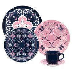 Aparelho de Jantar Redondo de Porcelana 20 peças - Hana Oxford Porcelanas