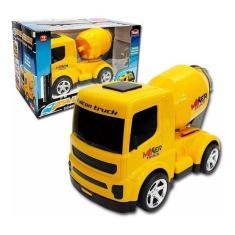 Imagem de Caminhao Betoneira De Brinquedo Mixer Truck Falcon -Usual Binquedos