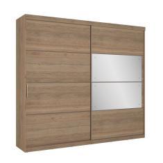 Guarda-Roupa Casal 2 Portas 6 Gavetas com Espelho Sofisticatto Glass THB Móveis