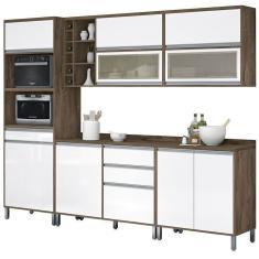Imagem de Cozinha Compacta 3 Gavetas 9 Portas Turquesa Vitamov