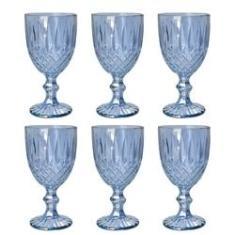 Imagem de Jogo 6 taças 220ml para água de vidro  Greek Bon Gourmet - 35453