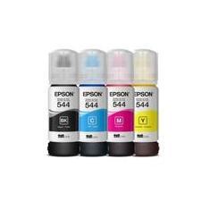 Kit Refil Tinta Com 04 Cores Epson L3110 L3150 T544 Epson Original 544 K M Y C