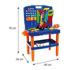Imagem de Bancada Maleta Ferramentas Brinquedo Infantil Poliplac