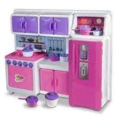 Imagem de Jogo Copa Cozinha Infantil Completa Fogão Armários Microondas