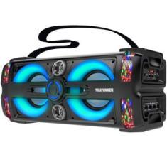 Caixa De Som Ativa 300W Neon 25 BluetoothSdUsb Com Microfone