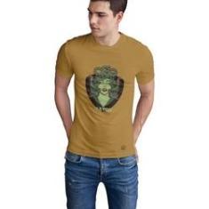 Imagem de Camiseta Mayon Algodão Egipcio Bege - Medusa Verde