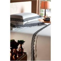 Imagem de Jogo de Cama Queen Size Plumasul Beauty London Percal 250 fios com 4 Peças -