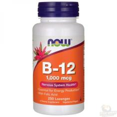 Vitamina B-12 B12 1000mcg (250 Pastilhas) Now Foods