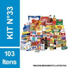 Imagem de Cesta Básica De Alimentos, Higiene E Limpeza C/ 103 Itens