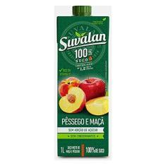 Suco de Pêssego e Maçã 100% 1L - Suvalan