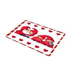 Imagem de Cucudai Dia dos Namorados tema amor boneca sem rosto tapete retangular tapete antiderrapante para banheiro, cozinha, quarto, decoração de casa - 1