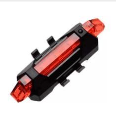 Imagem de Lanterna Bike Sinalizador Traseira Bicicleta Pisca Recarregável USB