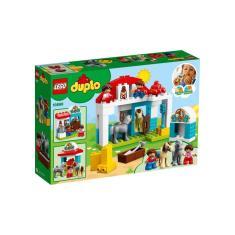 Imagem de Lego Duplo Estábulo De Cavalos E Pôneis Com 65 Peças 10951
