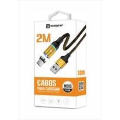 Cabo Magnético Imã USB Original Sumexr 2M 2.4A V8 Para Samsung J2 PRO, J5 PRO, J7 PRO