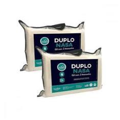 Imagem de Kit 4 Travesseiros Nasa Poliuretano 45x65 Duplo Nasa Duoflex