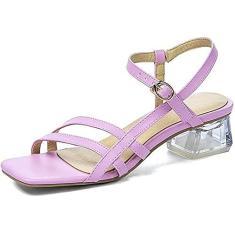 Imagem de Sandálias femininas CAETNY verão open toe sapatilhas verde roxo bege tamanho 5-12