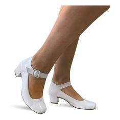 Imagem de Sapato Lilha Shoes Feminino Confortavel Salto Baixo Grosso - 880  Verniz