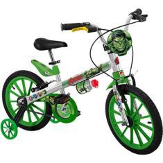 Imagem de Bicicleta Bandeirante Lazer Aro 16 Freio V-Brake Vingadores Hulk