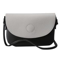 Imagem de Capa elegante semicírculo com relevo feminino em couro pu bolsa mensagem de ombro único