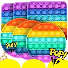 Imagem de 6pcs Pop It Fidget Toy Empurre Pop Bubble (atacado)