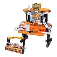 Imagem de Caixa Bancada De Ferramentas Infantil Kit Construção 2 Em 1