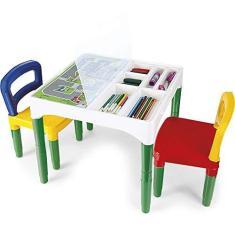 Imagem de Mesinha Didática Poliplac Mini Mesa Crianças Com Cadeiras