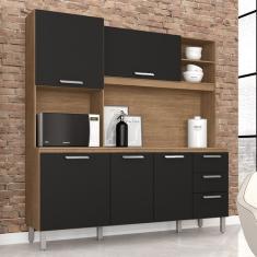 Cozinha Compacta 3 Gavetas 5 Portas Dora Plus Móveis Arapongas