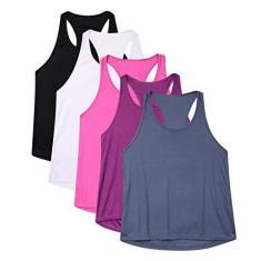 Imagem de Kit 5 Camisetas Regatas Femininas Dryfit (, ,  regata, roxa regata, titanium)